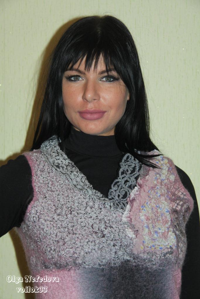 """Авторское валяное платье """"Французское"""""""